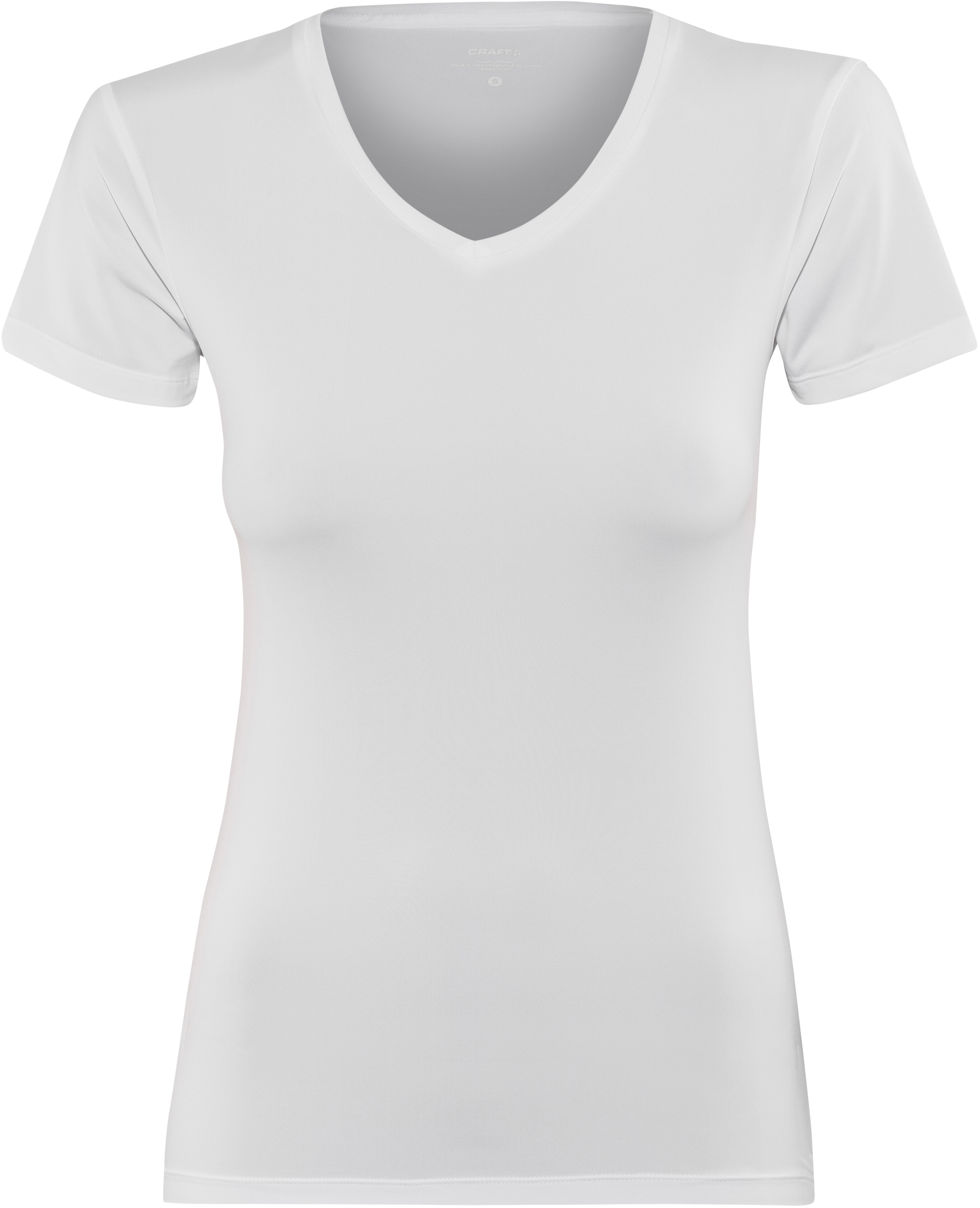 9c1f86f07b4 Craft Essential t-shirt Dames wit l Online outdoor shop Campz.nl